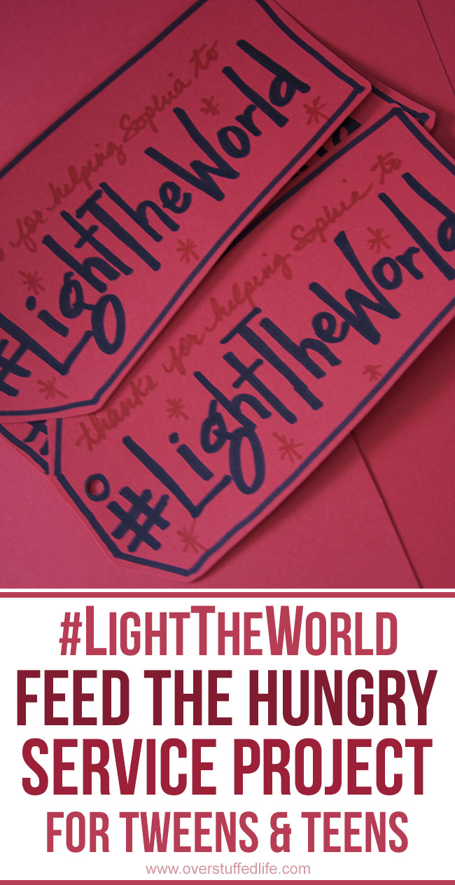 Help your kids to #LightTheWorld this Christmas by letting them organize and execute their own feed the hungry service project