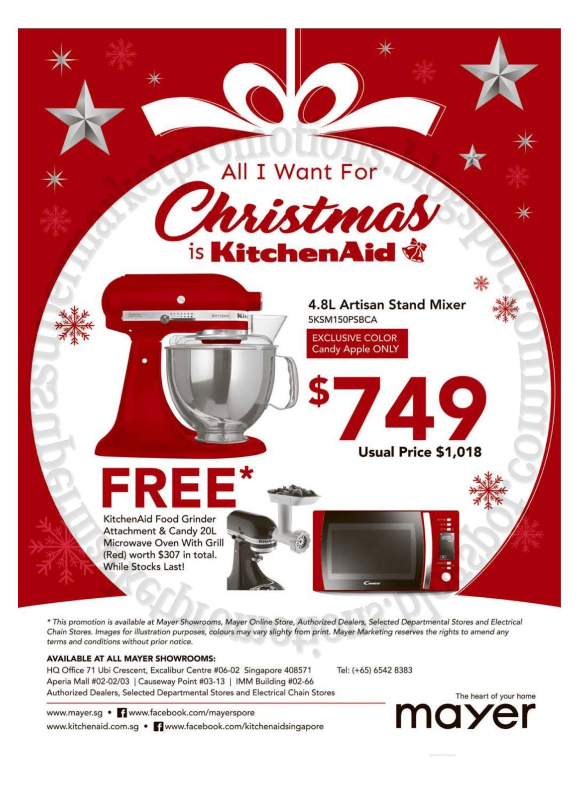 Mayer KitchenAid Christmas Promotion 10 November 2017 | Supermarket  Promotions