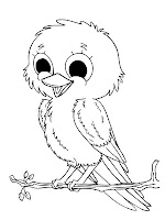 Baby Bird Animal Coloring Pages