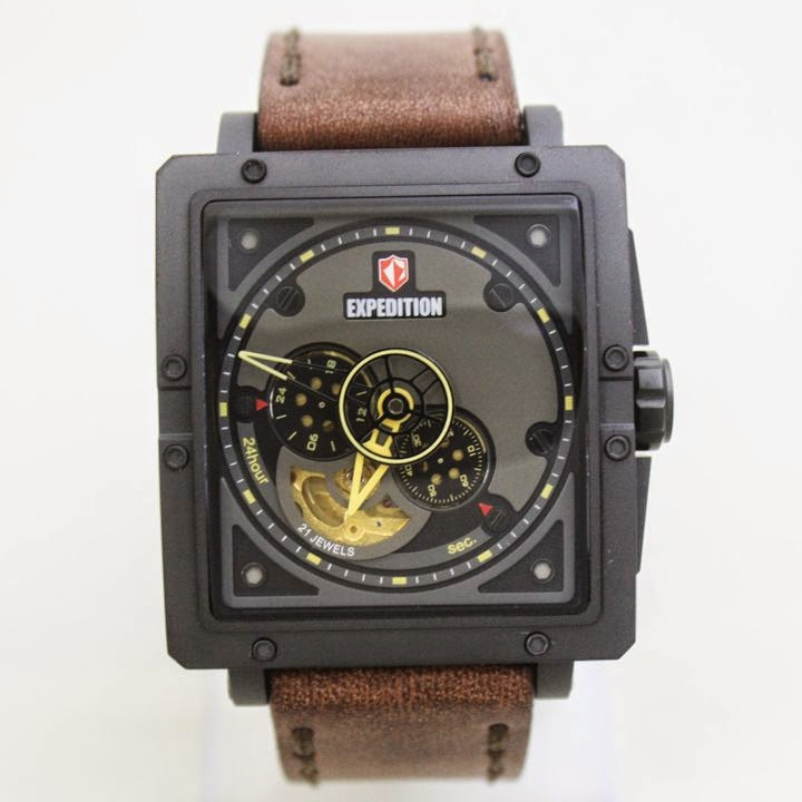 EXPEDITION E6640MA AUTOMATIC Brown Black 42mm 5atm