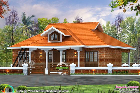 1200 Square feet 3 bedroom house architecture plan