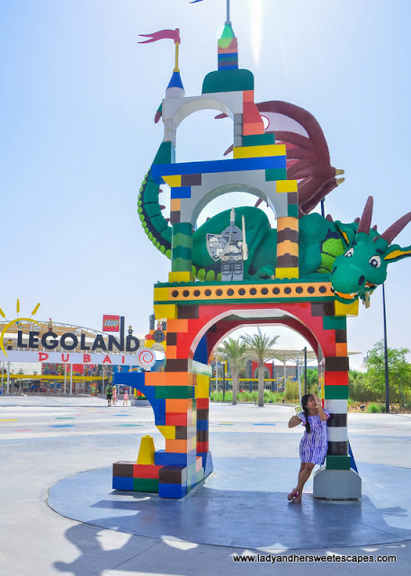 Lady at Legoland Dubai