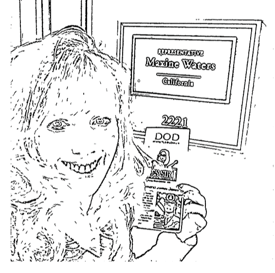 Creating a coloring book for congress showing successes on past lobbying efforts then telling them the big pharma cronyism concerning ptsd treatment needs