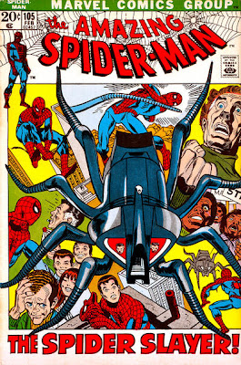 Amazing Spider-Man #105, the return of the Spider-Slayer