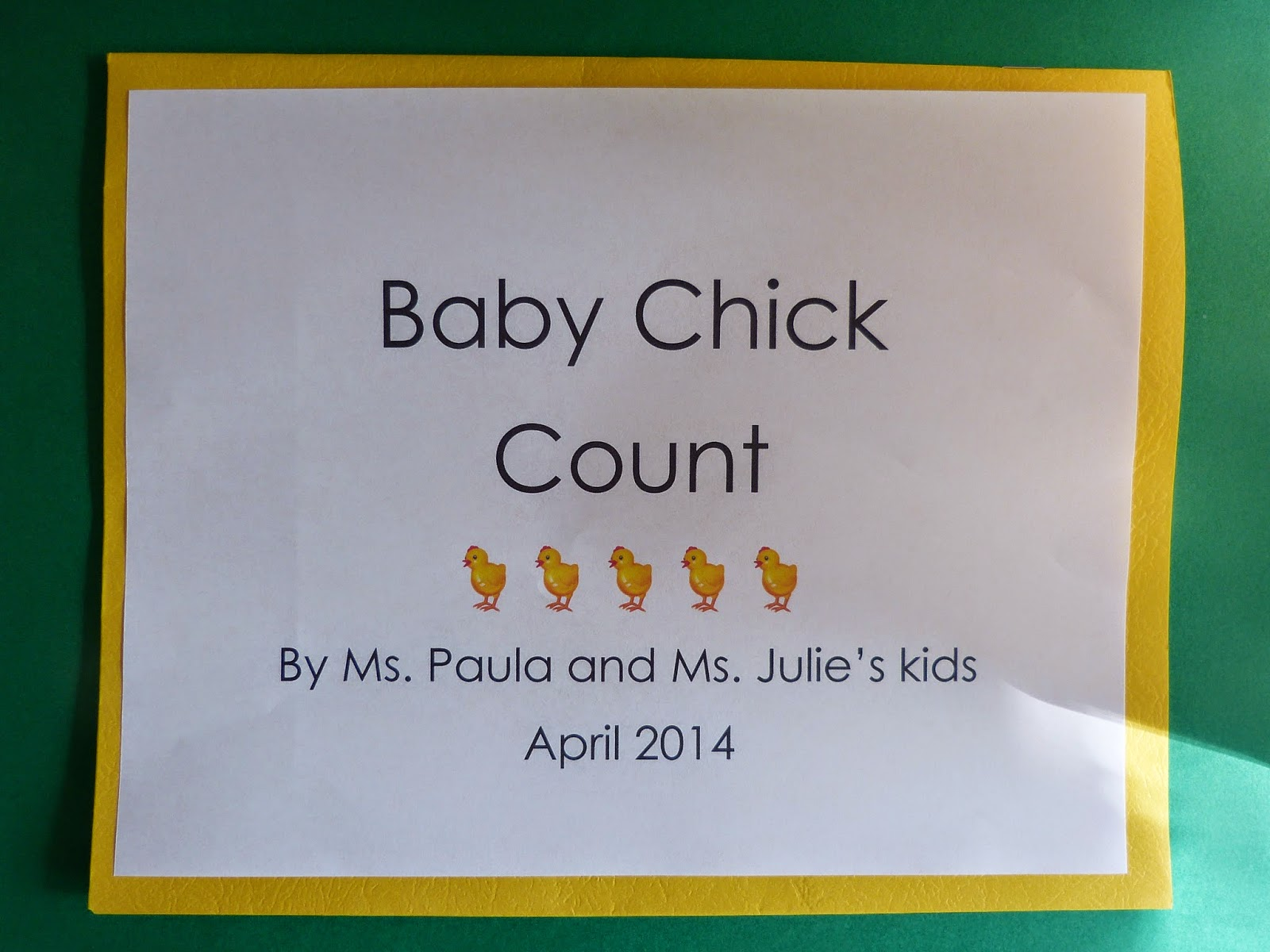Paula S Primary Classroom Baby Chick Count Book And Game