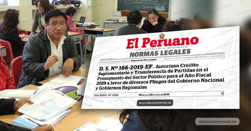 YA ES OFICIAL: Más de 28 mil docentes y administrativos cobrarán deuda social hasta por S/ 30,000, informó el Ministerio de Educación (D. S. Nº 166-2019-EF)