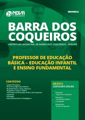 Apostila Concurso Prefeitura de Barra dos Coqueiros 2020 Professor de Educação Básica