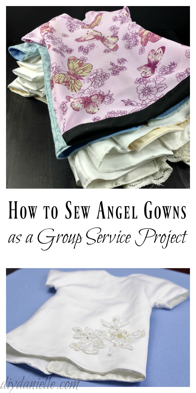 How To Sew Angel Gowns From Wedding Dresses Diy Danielle