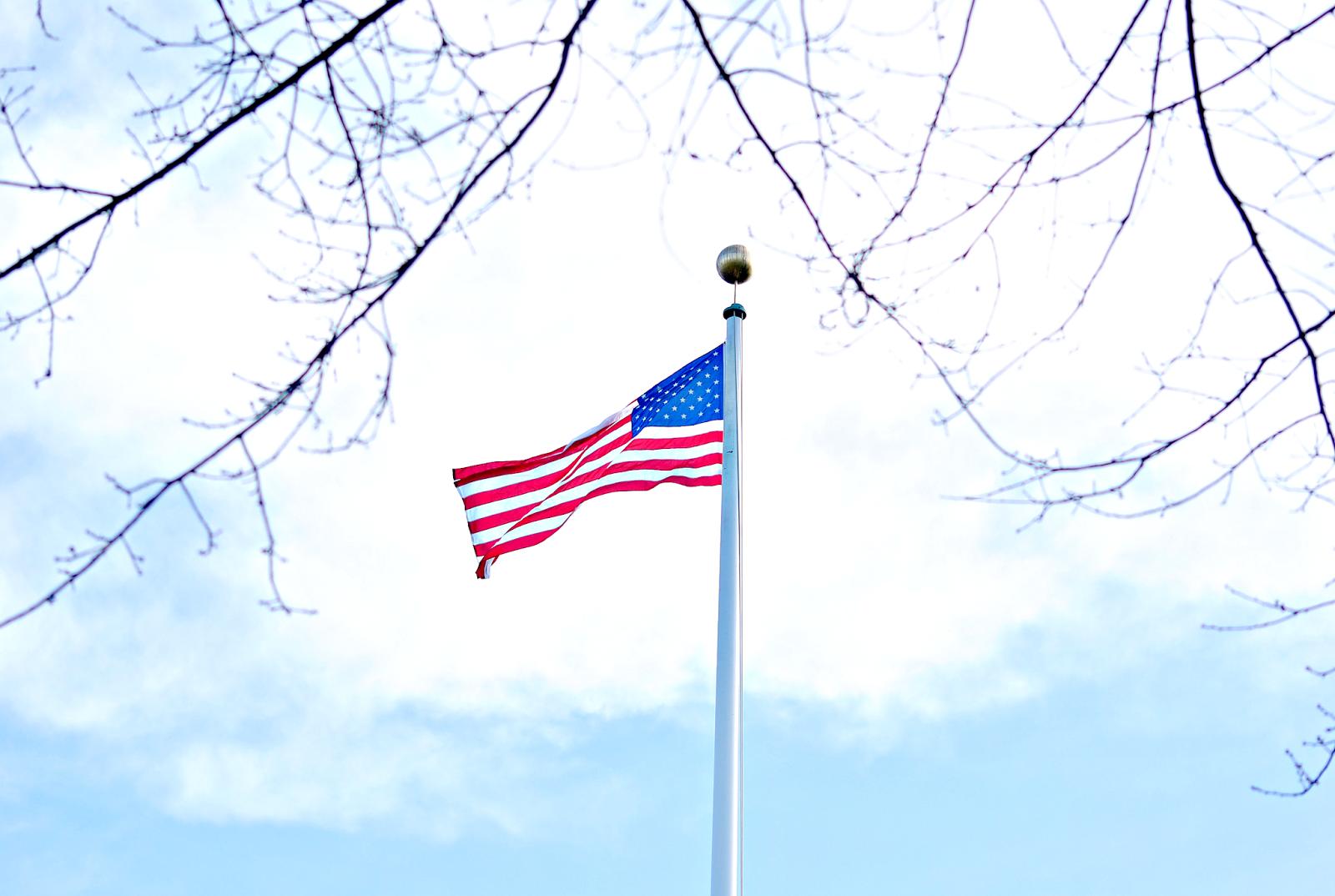 holandia, amerykańska flaga