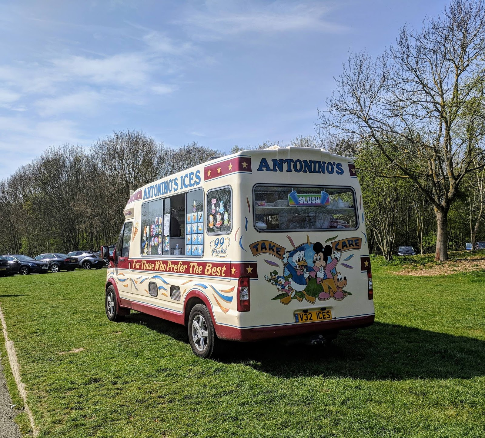 Plessey Woods Art Trail & New Play Park  - ice cream van
