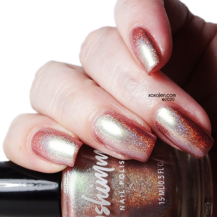 xoxoJen's swatch of KBShimmer Lovers Coral