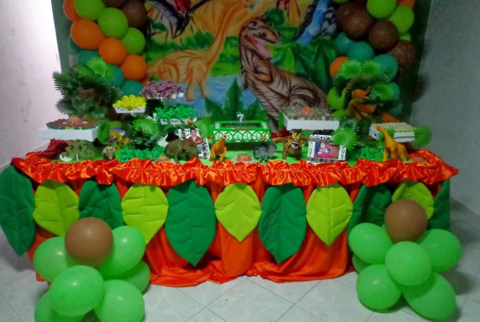 Nafkids Buffetá Domicílio Decoraç u00e3o de Festa Infantil Dinossauro -> Decoraçao De Dinossauro Para Festa Infantil