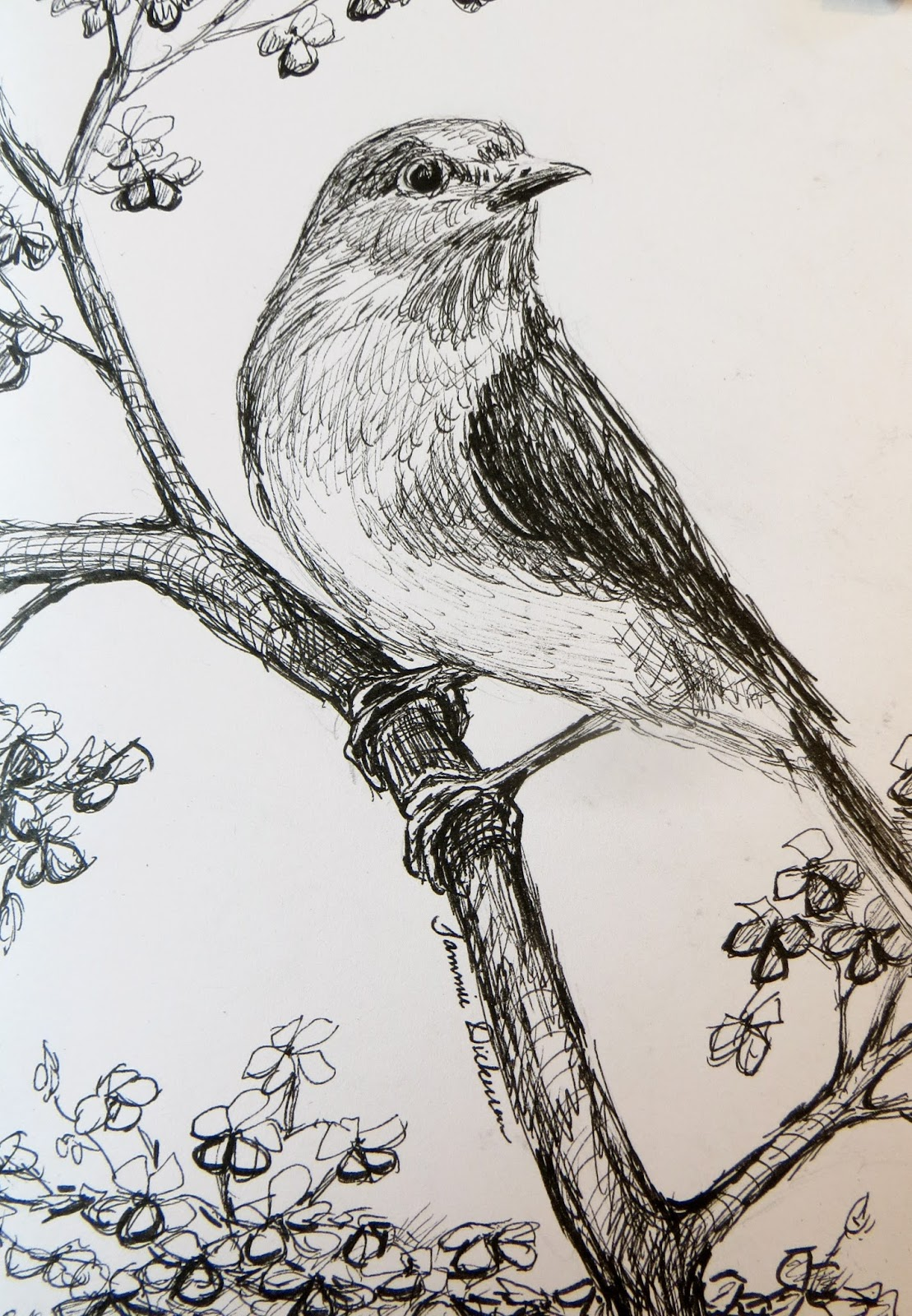 Tammie Dickersons Artistic Journey Bluebird In The Pear Tree