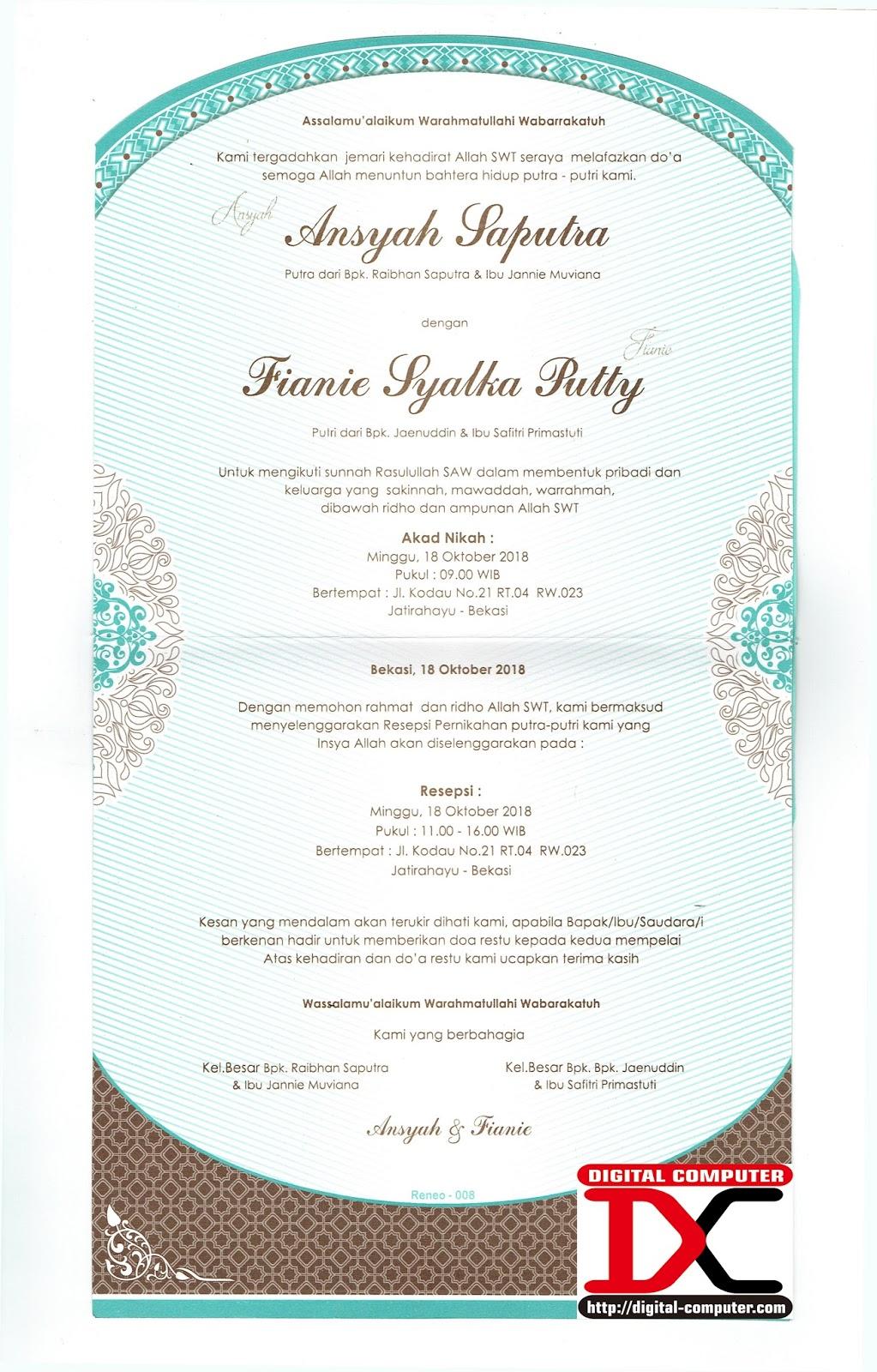undangan pernikahan harga rupiah