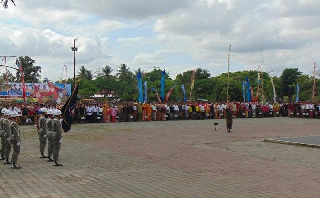 HUT Loteng Padukan Semua Budaya di Indonesia