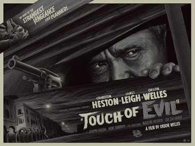 Touch of Evil Movie Poster Metallic Black & White Variant Screen Print by Mike Saputo x Mad Duck Posters