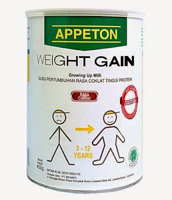 Daftar Harga Susu Appeton Weight Gain Terbaru 2017