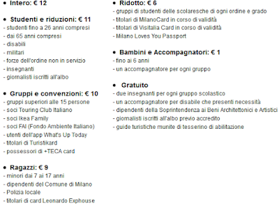 Tariffe Mondo di Leonardo
