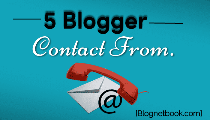 Top 5 stylish contact form for blogger