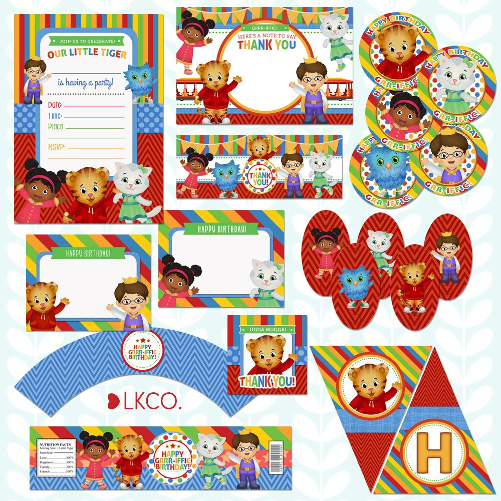 Luvibee Kids Company Daniel Tiger Birthday Party Printables