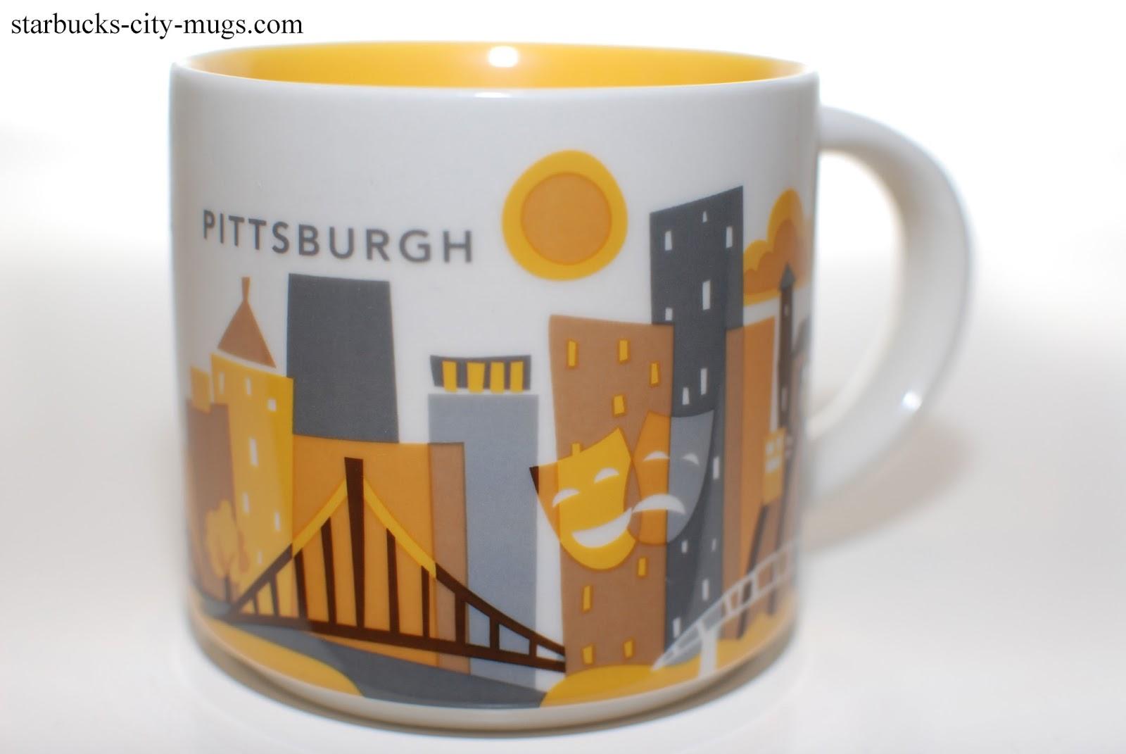 Starbucks City Mugs: Pittsburgh You Are Here