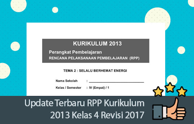 RPP Kurikulum 2013 Kelas 4 Revisi 2017