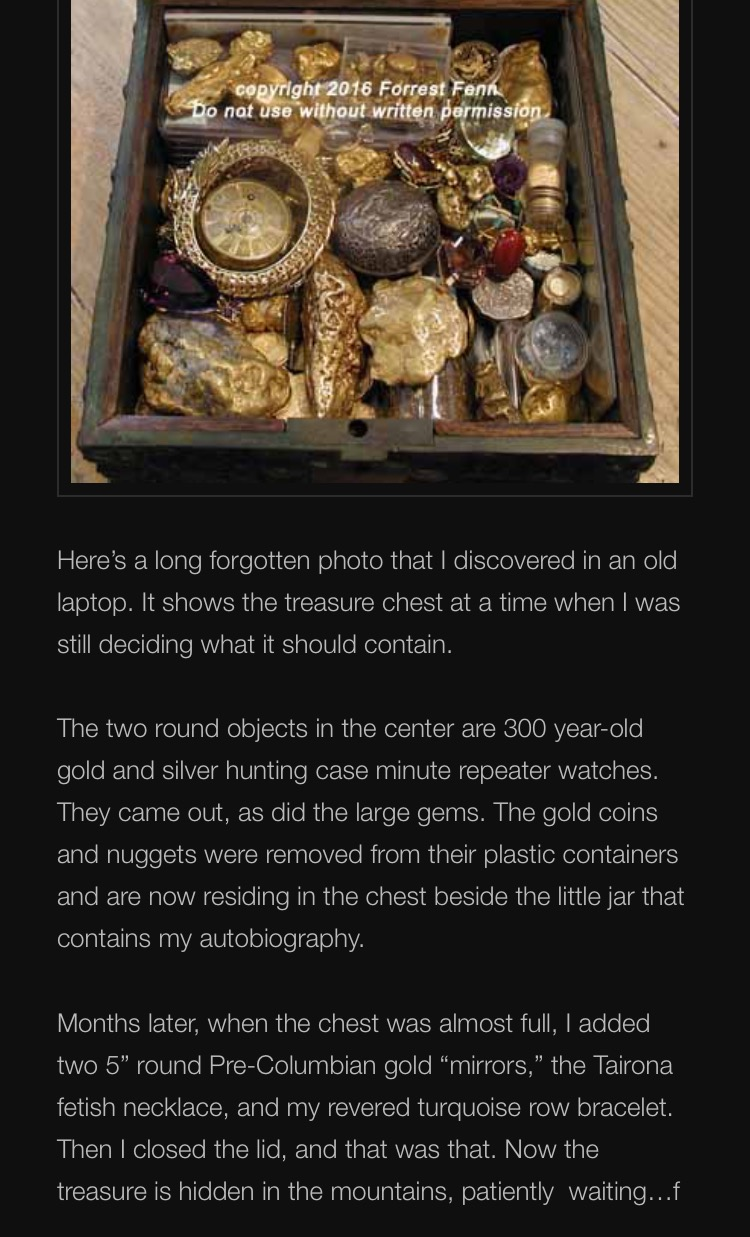 Facts about the Forrest Fenn Treasure Hunt