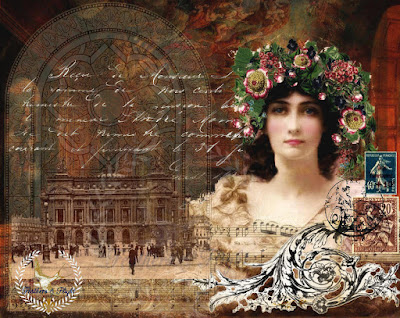 Daphne & Opera de Paris- Original Art Work By Jill Marcott- McCall ©2012