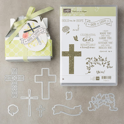 Lift someones spirits with a great card like this using the Hold On To Hope stamp set and matching framelits - get yours here -  http://bit.ly/2JC6NuW