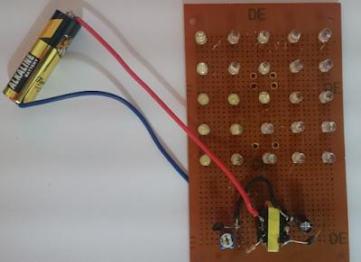 1.5v Flasher with 25 LEDs