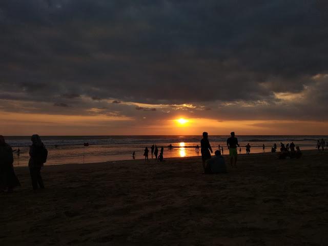 Golden Sunset in Kuta Beach