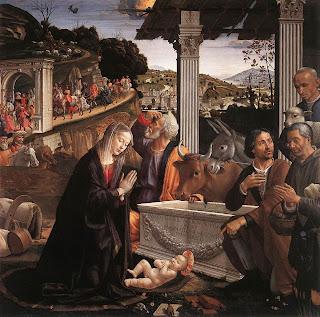 Adoración de los pastores (1482-85) - Domenico Ghirlandaio - Iglesia de la Santa Trinidad - Florencia