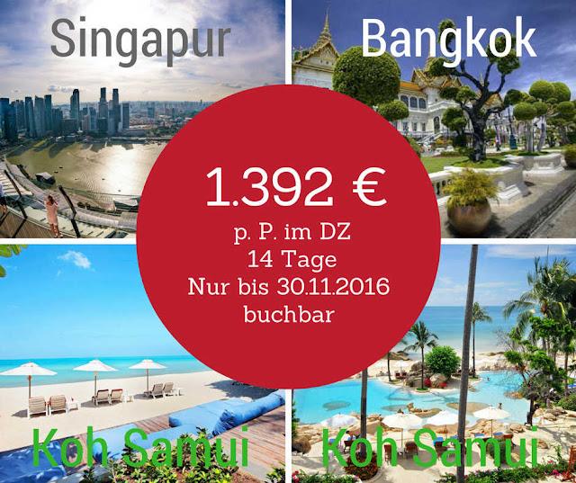 Kombination Bangkok, Koh Samui und Singapur