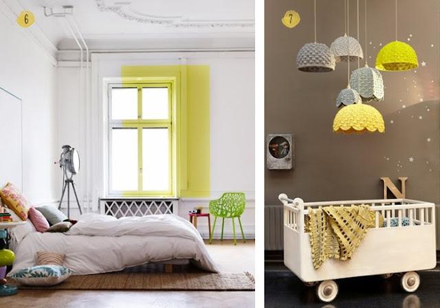 Decoración dormitorio con un poco de amarillo