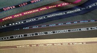 Arti huruf S pada kain wool