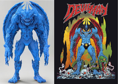 First Look: Devilman Vinyl Figure by Mike Sutfin x Unbox Industries