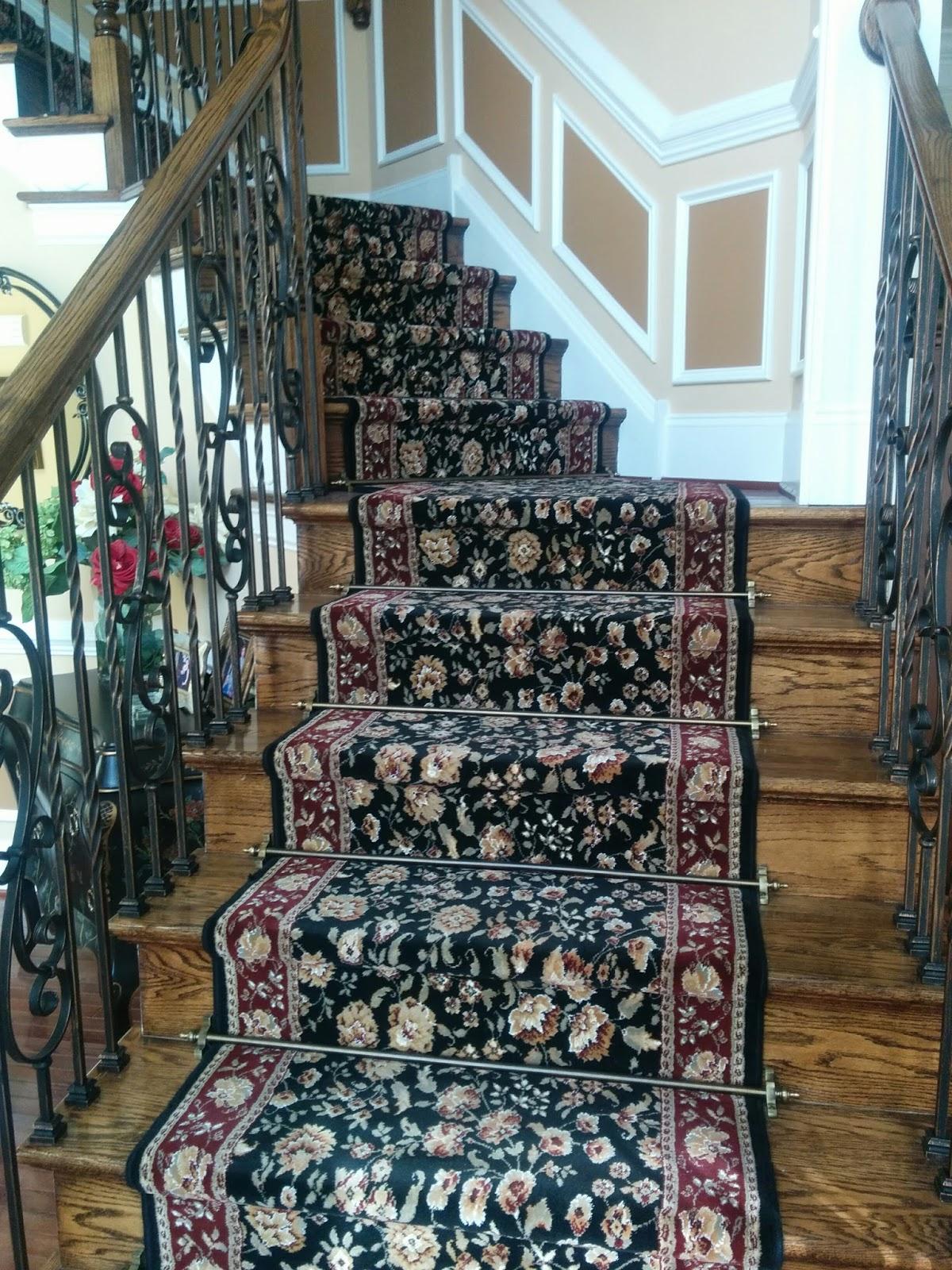 Floor Installation Photos Kane Carpet Stair Runner With Zoroufy | Decorative Carpet For Stairs | Rectangular Cord Treads | Gingham | Brown | Animal Print | Stair Runner Matching Landing