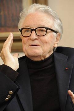 ex ministro francés de Relaciones Exteriores, Roland Dumas,
