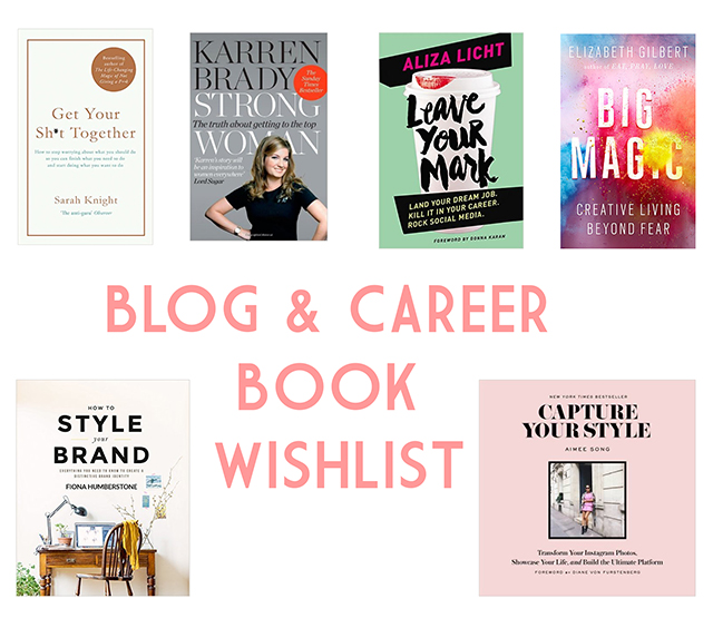 Blogging and career book wishlist