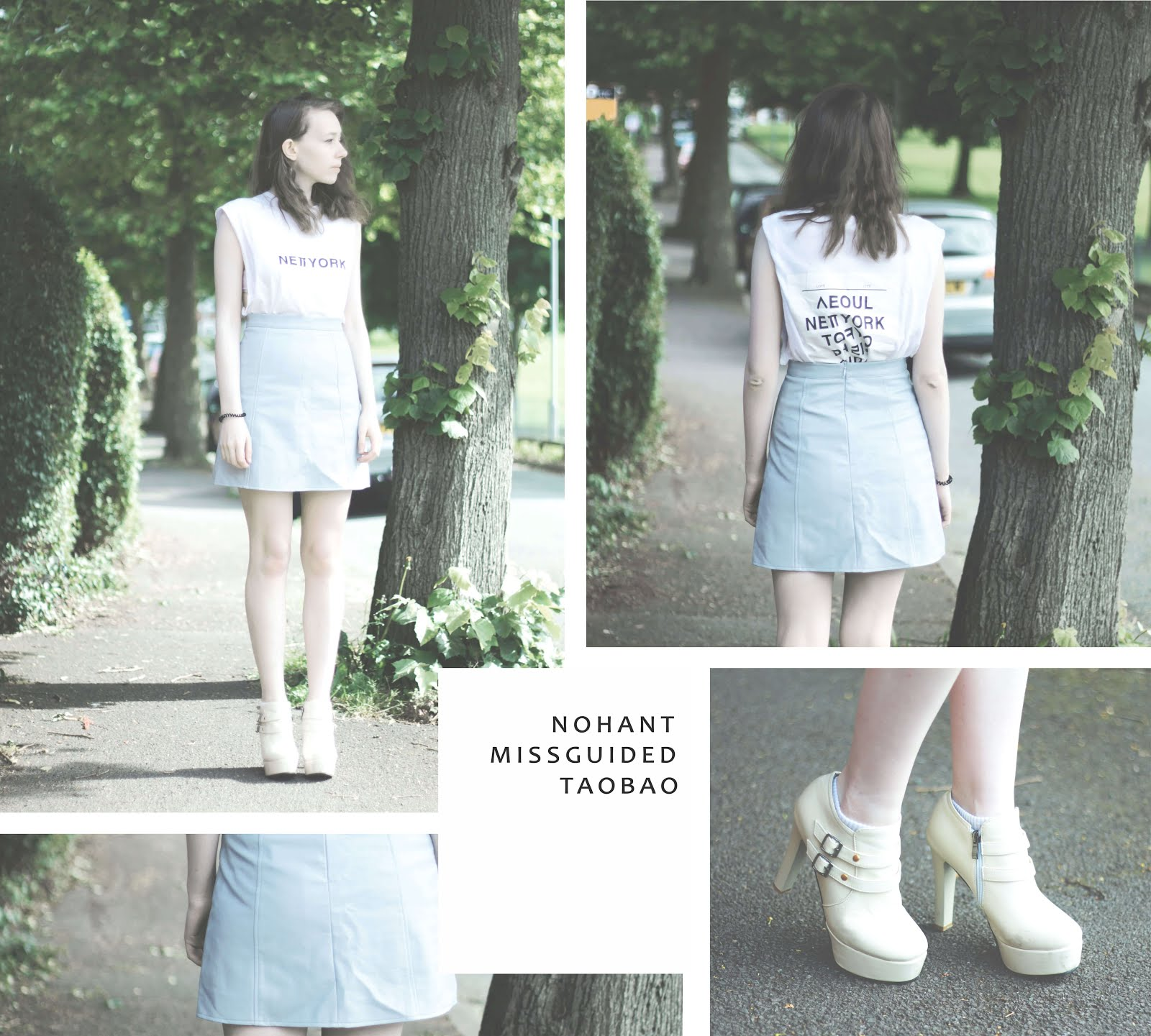 blue and white summer styling ideas korean brands