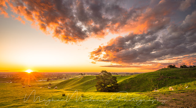 Maungakawa best sunset in the Waikato
