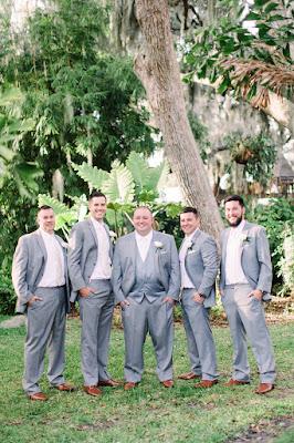 Groomsmen at Tavares Pavilion on the Lake