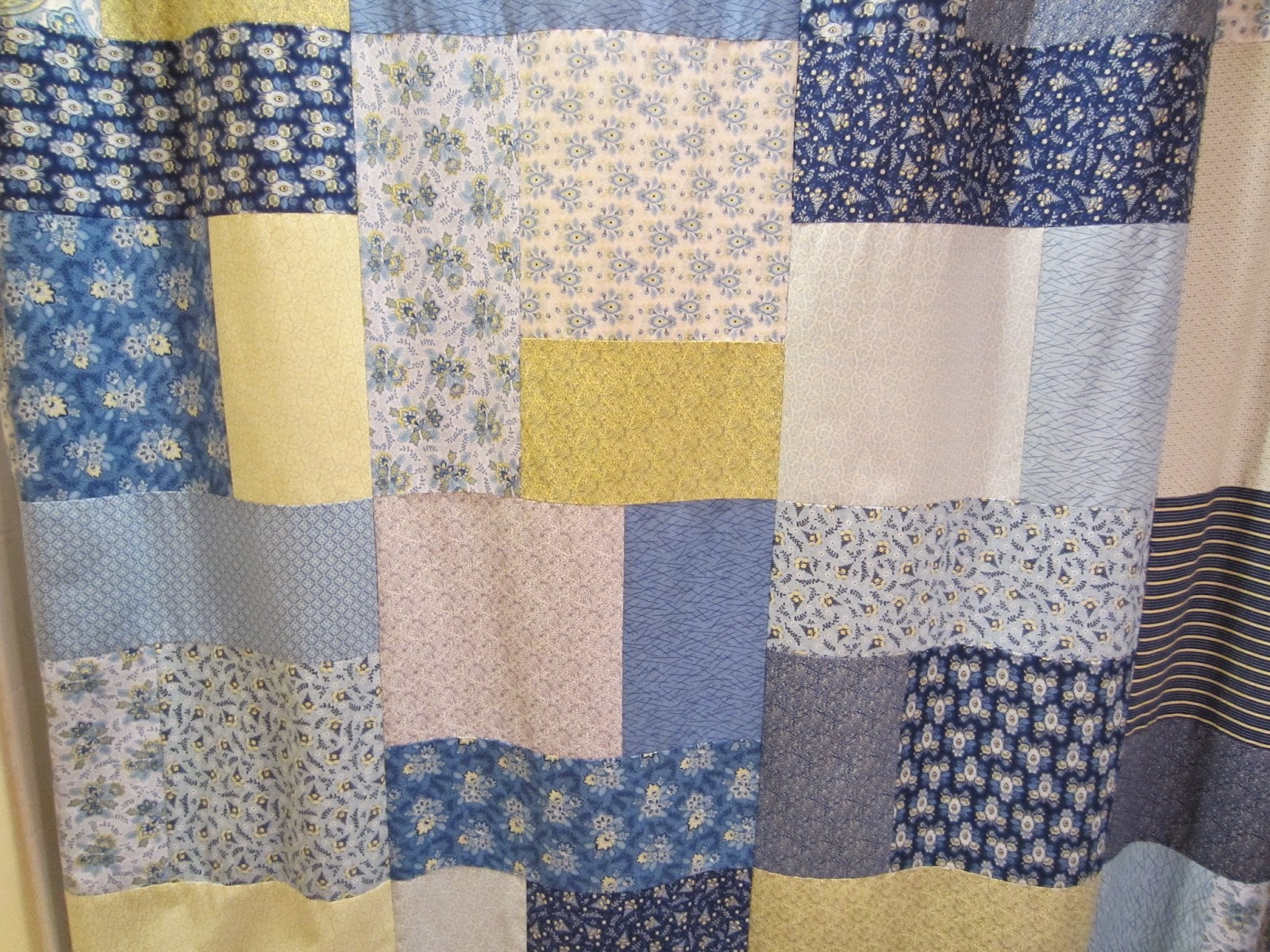 FROM A QUILT TOP TO SHOWER CURTAIN