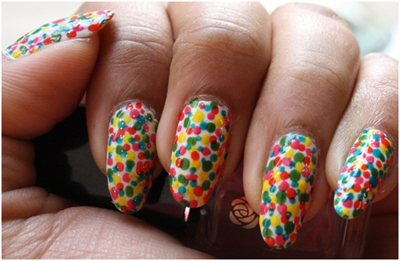 Dots Nail Art Designs