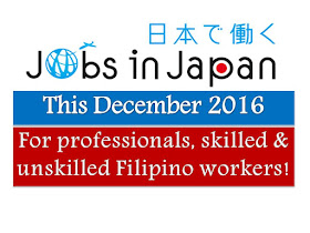 The following are job advertisement online, work overseas in Japan for Filipino workers. The Filipino job applicants may contact the recruitment agency assigned in order to inquire for further information or to apply for the job. Each jobs are linked to their respected agencies who will process visa and work permit. The posted below job offers, and OFW work for Philippine workers, and for overseas Filipino.
