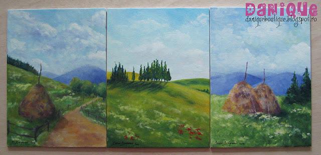 pictura acrilic pe carton panzat 18x24cm - 50,00lei/buc