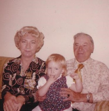 Bridget Eileen as baby with her grandmother, Eileen and great grandfather