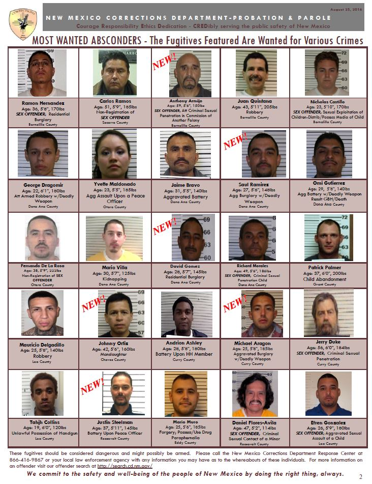With the joint efforts of STIU and other New Mexico Law Enforcement  agencies, so far this year alone 2,210 absconders have been arrested.