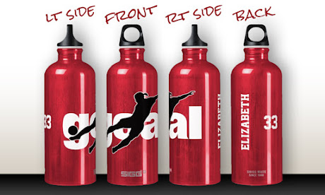 women's soccer SIGG water bottle