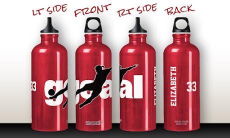 women's soccer SIGG water bottle